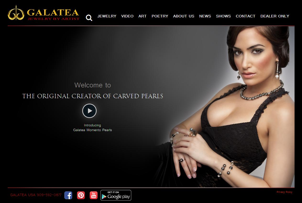 Galatea jewelry Carve pearl